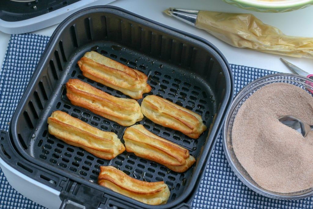 air fried churros after air frying